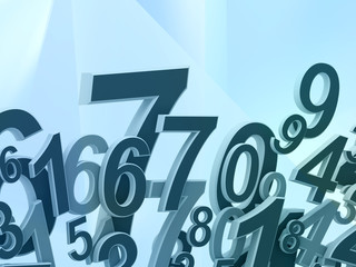 Numbers composition on abstract background