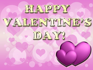 Hearts And Valentine's Day Card