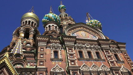 Church of the Savior on Blood in St. Petersburg. 4K.