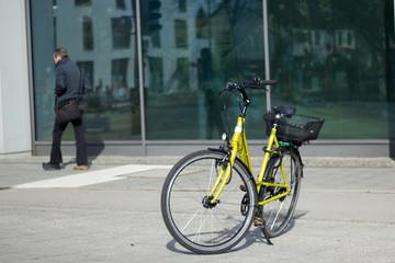 Mit dem Fahrrad in der Stadt