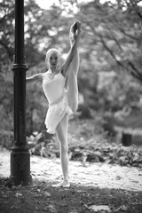 Ballet workout in the park
