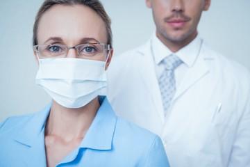 Close up portrait of dentists