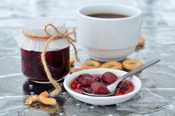 homemade strawberry mulberry jam