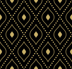 Geometric Modern Vector Seamless Golden Pattern