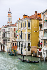 Gondola in water canal