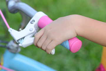 Hand  holding  bicycle brake