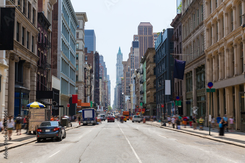 Foto op Plexiglas New York City Soho building facades in Manhattan New York City