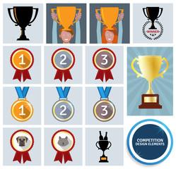 Competition design elements. EPS10.