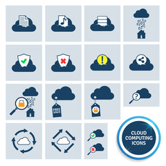 Cloud computing icons. EPS10.