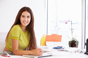 Portrait Of Woman Working In Design Studio