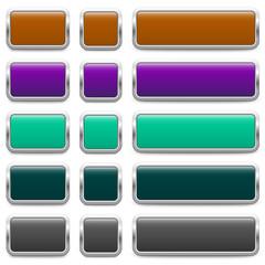 SET of metallic buttons – 3 Variants (I)