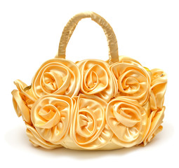 Women bag decorated with flowers