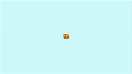 Tasty Hamburger.Fast food.Animation