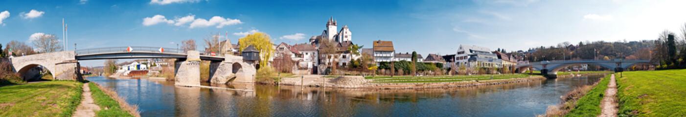Panorama von Diez an der Lahn