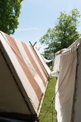 Zeltnachbau aus dem Mittelalter