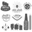 Vintage craft beer brewery emblems, labels and design elements - 76102690