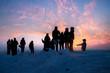 canvas print picture - Ein Wintertag geht zu Ende