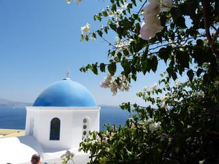 Blue dome of Oia