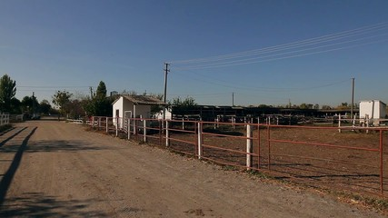 ranch at the conclusion of horses
