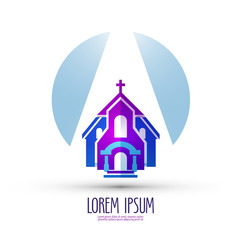 church vector logo design template. religion or temple icon.