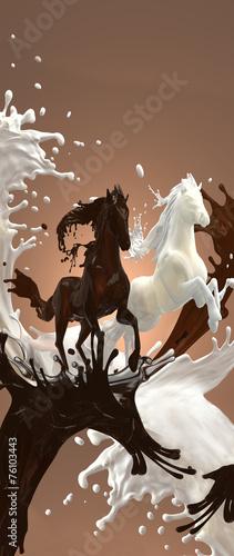 Лошади - шоколад и молоко