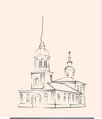 sketch of the russian orthodox church