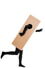 Konzept: Paketdienst schnelle Zustellung