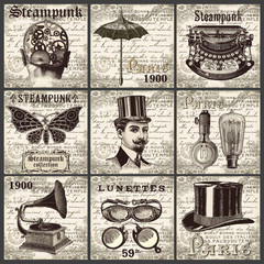 Steampunk square collection