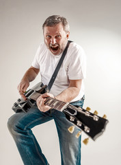 portrait of a guitar player
