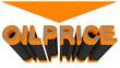 canvas print picture - Oilprice down, orange