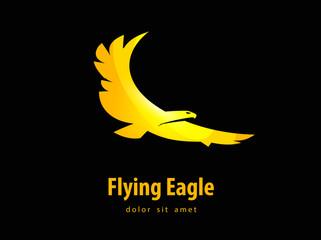 eagle vector design template. bird or animal icon.