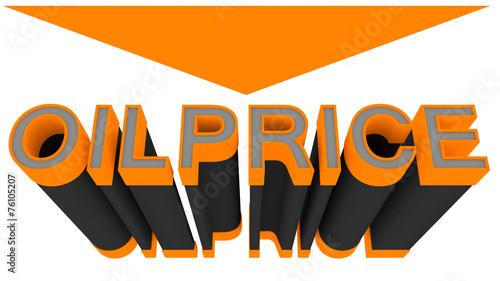 canvas print picture Oilprice down, orange