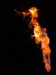 canvas print picture - Flammen vor schwarz