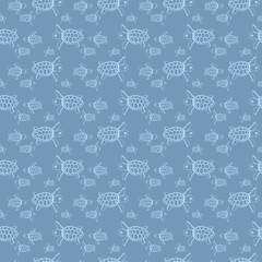 Sea turtles pattern