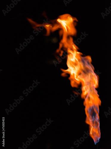 canvas print picture Flammen vor schwarz