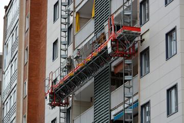 reparando una fachada