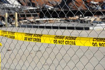 Yellow Crime Scene Do Not Cross Tape