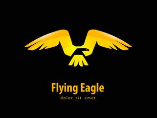 eagle vector logo design template. animal or bird icon.
