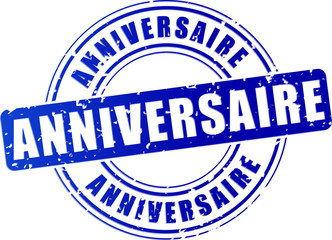 anniversary blue stamp