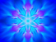 Blue glowing yantra - 76106218