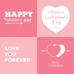 Valentines cards set