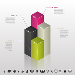 Infographc. Columns of data for business. Vector