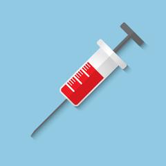 Vector syringe web icon.