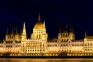 Hungarian parliament at night, Budapest