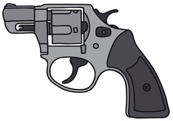 Revolver, vector illustration