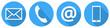 Blaue Kontakt Icons - 76108269