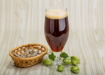 Beer with hop