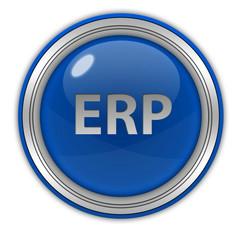 ERP circular icon on white background
