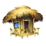 Fototapety tropical bungalow