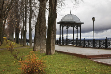 Volga Boulevard in Kineshma. Ivanovo region. Russia
